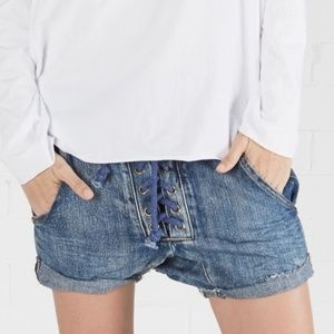 One Teaspoon Super Freaks Lace Up Shorts